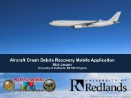 Aircraft Crash Debris Recovery Mobile Application - Mojave Data ...