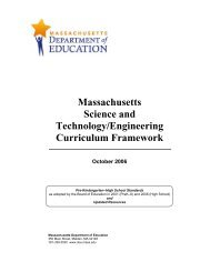 2006 Science and Technology/Engineering Curriculum Framework