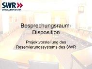 Studios und Regional-/ Korrespondentenbüros ... - speedikon FM AG
