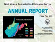 West Virginia Geological and Economic Survey Fiscal Year 2006