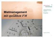 Mietmanagement - speedikon FM AG
