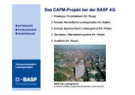 Das CAFM-Projekt bei der BASF AG - speedikon FM AG