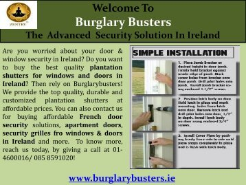 Door & Window Security in Ireland