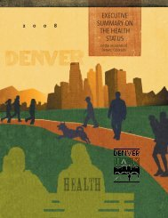 executive summary on the health status - City and County of Denver