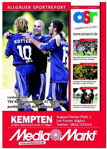 ASR Sport Ausgabe November 2011 - Allgäu Sport Report