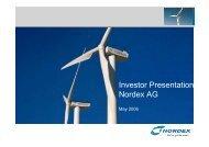 Roadshow Presentation 04-28-06 - Nordex
