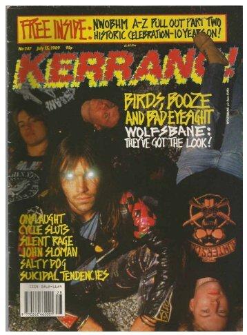 Kerrang No 247 July 15 1989