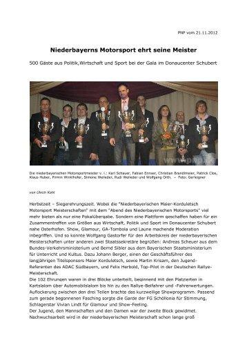 Niederbayerns Motorsport ehrt seine Meister
