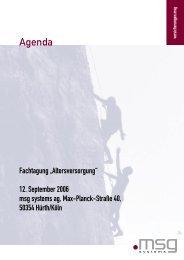 Agenda Fachtagung Altersversorgung - PresseBox