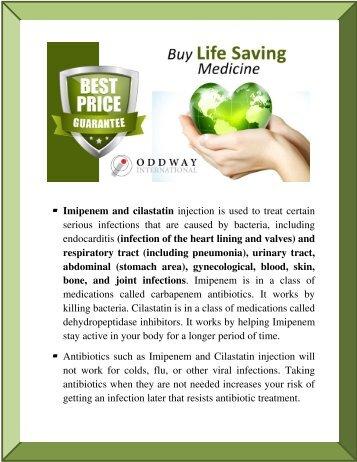 Zienam Injection MSD | Zienam Imipenem & Cilastatin Injection | Antibiotic Medicines Wholesale Distributor