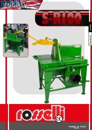 Saw bench PTO S-R100 - Rosselli Snc