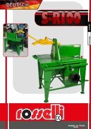 Tischkreissäge Kardanwelle   S-R100 - Rosselli Snc