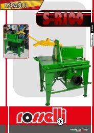 Sierra circular para el tractor S-R100 - Rosselli Snc