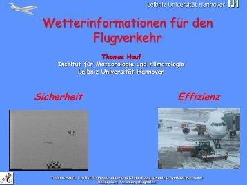 Vortrag (pdf, 13 MByte) - Technische Universität Braunschweig