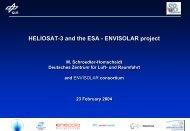 ENVISOLAR project - HELIOSAT-3