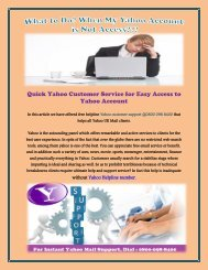 Yahoo Customer Service for Easy Access to Yahoo Account