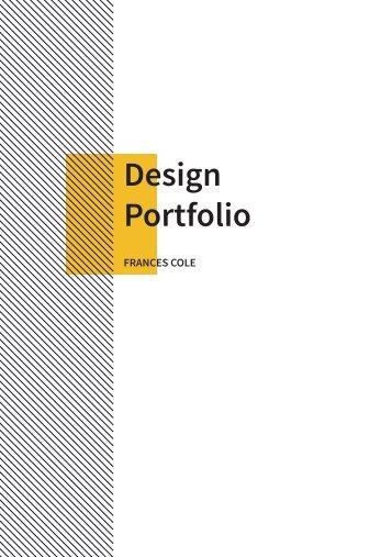 Design Portfolio - Frances Cole