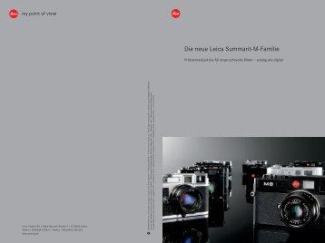 Die neue Leica Summarit-M-Familie - Leica Camera AG