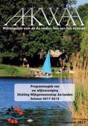 Wijkblad Aakwaa juli augustus 2017