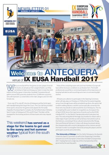 Newsletter01_Eusa Monday 3rd July 2017