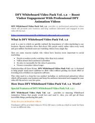 DFY Whiteboard Video Pack Vol. 1.2 Review-MEGA $22,400 Bonus & 65% DISCOUNT