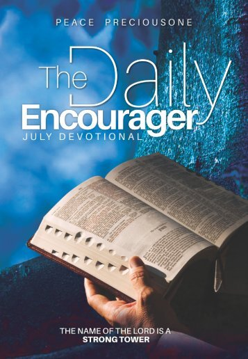 THE DAILY ENCOURAGER - JULY EDITION