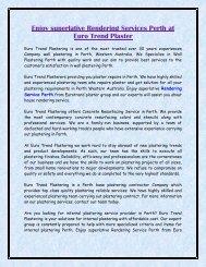 Enjoy superlative Rendering Services Perth at Euro Trend Plaster