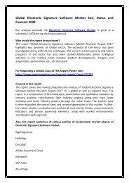 Global Electronic Signature Software Market Size