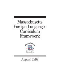 Massachusetts Foreign Languages Curriculum Framework - August ...