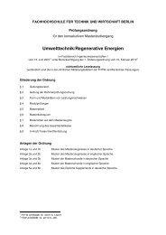 Master of Science (M.Sc.) - Umwelttechnik/Regenerative Energien ...