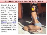 Elite Chennai Escorts to Take You Seven Heavens