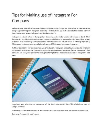 Tips for Making use of Instagram For Company