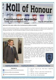 Coombeshead Academy Newsletter - Issue 63