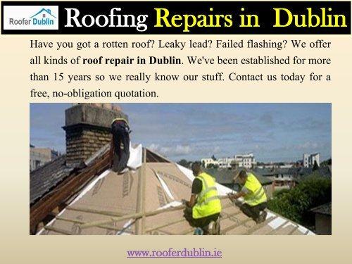 Roofing Repairs in  Dublin