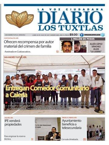 edición de diario los tuxtlas del día 03 de julio de 2017