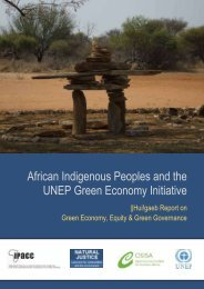 African Indigenous Peoples and the UNEP Green Economy Initiative