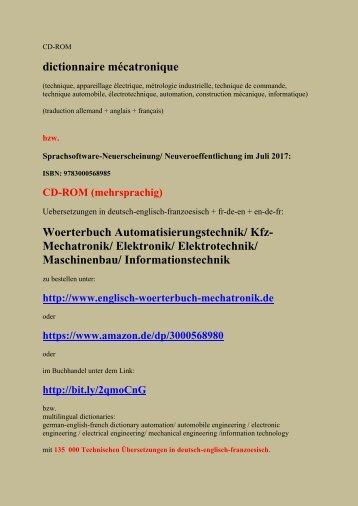 Technischer Wortschatz deutsch-englisch-franzoesisch
