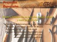 CATALOGO PROYECTOS ESPECIALES ACRY