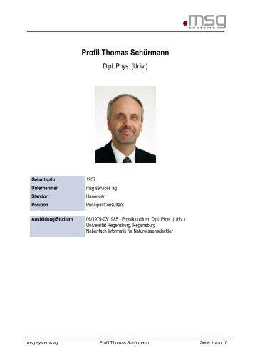 Profil Thomas Schürmann