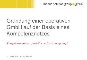 Strategie Mobile Solution Group (GmbH) - Kompetenznetze