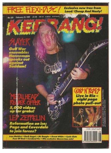 Kerrang 329 Feb 23 1991