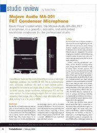 MA-201fet, Pro Audio Review, February 2009 - Mojave Audio