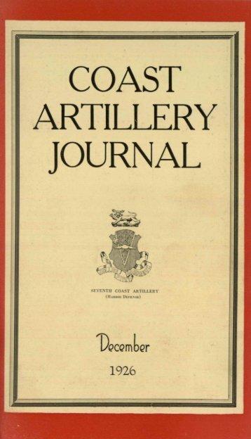 COAST ARTILLERY, JOURNAL - Air Defense Artillery