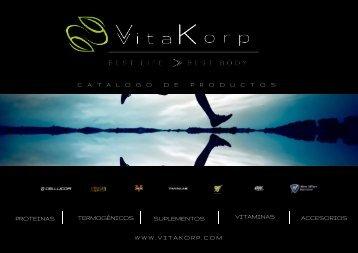 Productos Vitakorp. Catalogo