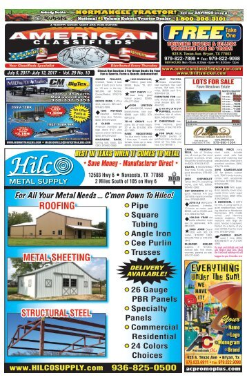 American Classifieds July 7th Edition Bryan/College Station
