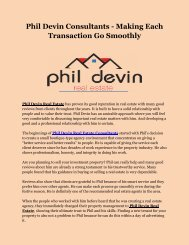 Phil Devin Consultants - Making Each Transaction Go Smoothly
