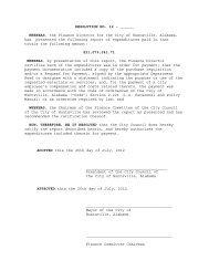 RESOLUTION NO. 12 - ______ WHEREAS, the ... - City of Huntsville
