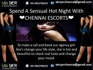 Spend A Sensual Hot Night With Viniyer Chennai Female Escorts