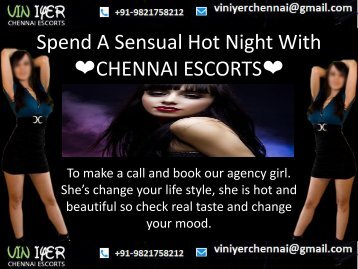 Spend A Sensual Hot Night With Viniyer Chennai Female Escorts