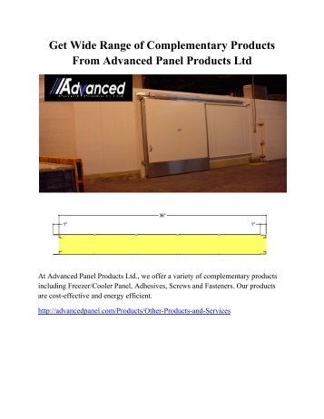 Get Wide Range of Complementary Products From Advanced Panel Products Ltd